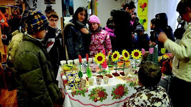 Vánoční výstava v chlumeckém Domově V Podzámčí.