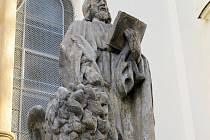 Na Slezském předměstí je téměř utajená kaple na Rožberku, v jejíž blízkosti stojí na soklu socha Svatého Marka.