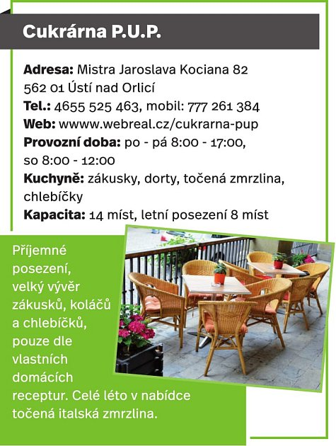 Cukrárna P.U.P., Ústí nad Orlicí