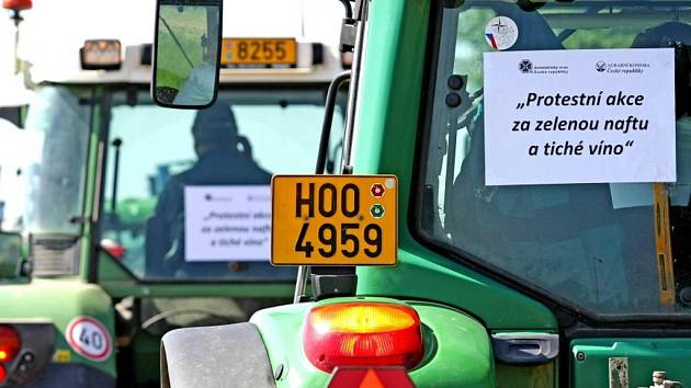 Blokáda v dopravě - protest zemědělců.