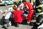 Na silnici č. 35 v katastru části Lípa zasahovali hasiči u dopravní nehody osobního vozidla a motocyklu.
