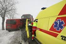 Nehoda ve středu 27. ledna 2010 mezi Hradcem Králové a Jičínem.