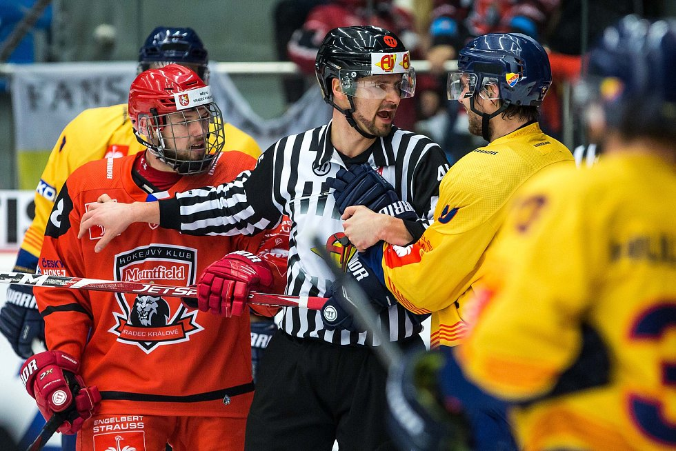 Semifinále hokejové Ligy mistrů: Mountfield HK - Djurgården Stockholm.