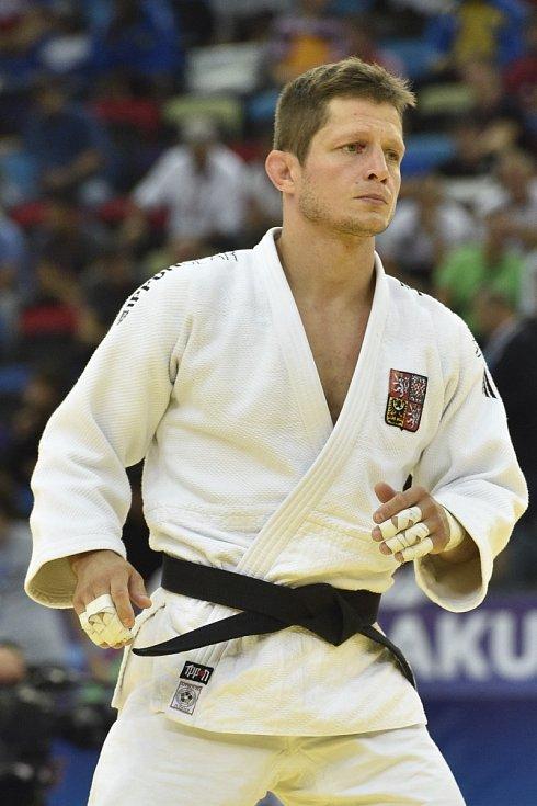 Judista Pavel Petřikov (v bílém) se připravuje na Evropské hry v Bělorusku.