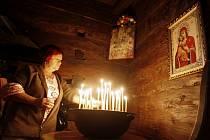 Den evropského dědictví v dřevěníém pravoslavném kostele svatého Mikuláše v Jiráskových sadech v Hradci Králové.