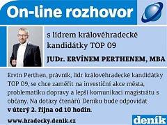 On-line s Ervínem Perthenem.