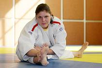 Judistka královéhradeckého PSK Alena Eiglová se popere na mistrovství světa v Rotterdamu.