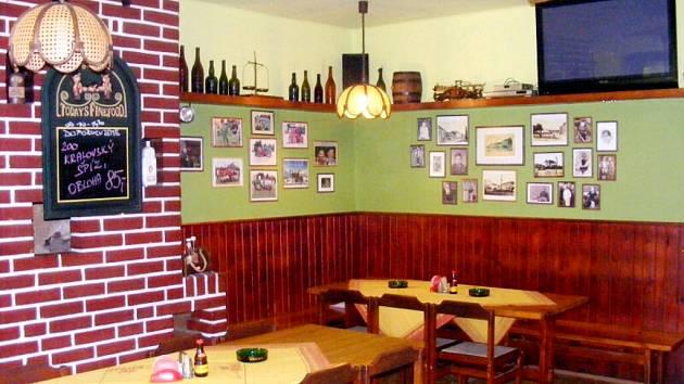 Restaurace U Šimlů v Nechanicích.