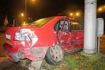 Dopravní nehoda dvou osobních vozidel na křižovatce ulic Střelecká a V Lipkách v Hradci Králové.