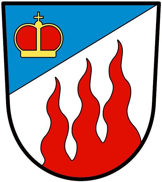 Znak obce Ohnišťany.
