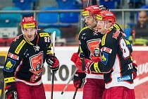 Tipsport extraliga ledního hokeje: Mountfield HK - Bílí Tygři Liberec.