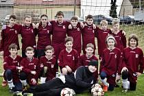 Fotbaloví mladší žáci TJ Sokol Třebeš.