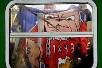 Hradec - Sparta 2:1. Výtržnosti fanoušků Sparty po zápase. (Sobota 17.07.2010)
