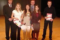 Ocenění nadějí královéhradeckého sportu ve středu 27. ledna 2010.
