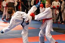 Grand Prix v karate v královéhradeckém kongresovém centru Aldis.