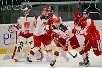 Poslední přípravné utkání hradeckých hokejistů v Olomouci.