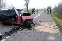 Dopravní nehoda se smrtelným zraněním u Smiřic.
