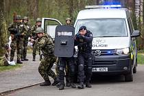 Hradba 2018 - cvičení armádních záloh a Policie ČR v Hradci Králové.