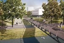 Nová lávka by mohla obyvatelům a návštěvníkům města sloužit na přelomu let 2019 a 2020. Nenašel se však zatím nikdo, kdo by ji postavil. Foto: MMHK