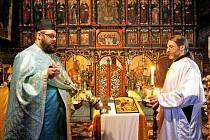 Dřevěný kostel sv. Mikuláše v Jiráskových sadech byl 6. - 7. ledna 2010 místem konání slavnostních bohoslužeb při oslavách pravoslavných Vánoc.