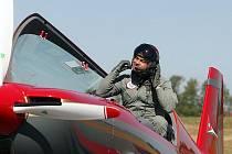Jordánská akrobatická skupina Royal Jordanian Falcons se začala slétat  na Czech International Air Fest (CIAF) už v úterý 1. září.