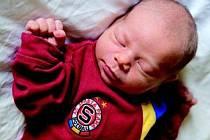 VILÉM ŠTEFAN se  narodil v Jilemnici 11. února ve 21.54 hodin rodičům Martině a Pavlovi. Vážil 3260 gramů a měřil 49 centimetrů. S bráškou Kvidem má domov ve Studenci u Horek.