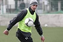 Trénink fotbalistů FC Hradec Králové v rámci zimní přípravy. Na snímku Libor Žondra.