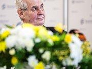 Prezident Miloš Zeman na návštěvě v Červeném Kostelci.