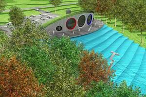 Vizualizace nové podoby hradeckého kopce Rozárka.