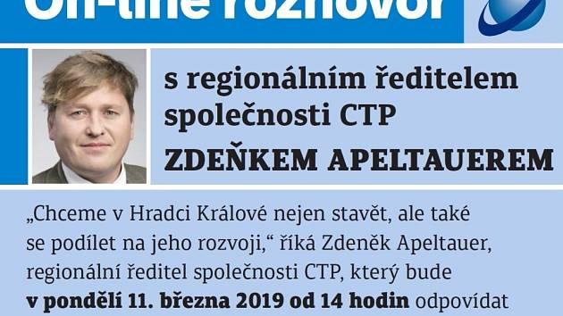 On-line se Zdeňkem Apeltauerem, regionálním ředitelem společnosti CTP