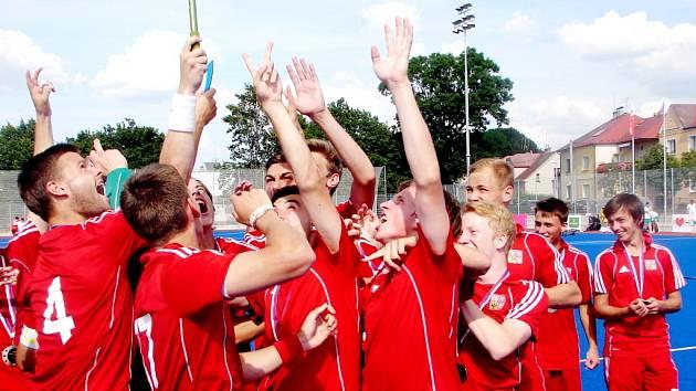 Mistrovství Evropy juniorů (U21) v pozemním hokeji v Hradci Králové: Česká republika - Slovensko.