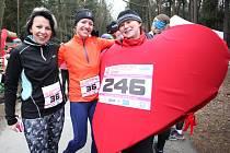 Valentýnský běh nejen pro zamilované v městských lesích u Hradce Králové.