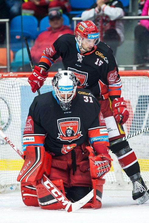 Hokejová extraliga: Mountfield HK - HC Dukla Jihlava.