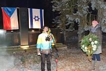 Připomínka Mezinárodního dne památky obětí holocaustu v Hradci Králové.