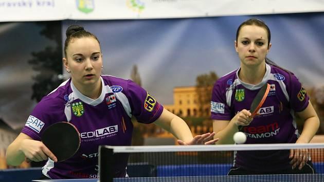 Čtyřhru vyhrál doberský pár Zdena Blašková, Dagmar Ilievová.