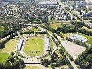 Všesportovní stadion v Hradci Králové.