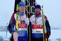Pavel Petr (vlevo) a Josef Vejnar ve francouzském Autrans, únor 2009