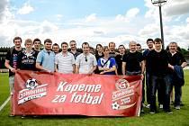 VIP návštěva fotbalistů Přelouče B na stadionu FC Hradec Králové v rámci projektu Gambrinusu Kopeme za fotbal.