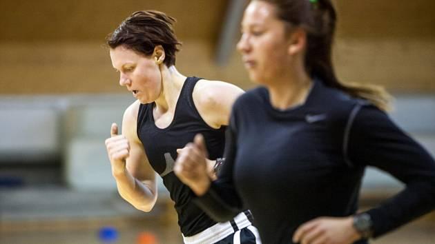 Soustředění ženské basketbalové reprezentace České republiky.
