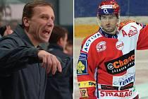 TRENÉR A HVĚZDA. Hokejisty HC Lev měl v novém ročníku vést v roli hlavního kouče Miloslav Hořava (vlevo), největším lákadlem pro fanoušky se mohl stát kanonýr Jaroslav Bednář.
