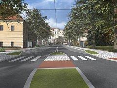 Nová podoba křižovatky Fortna v centru krajského města.