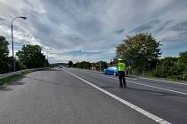 Policisté v Královéhradeckém kraji dohlížejí na motoristy, kteří se vracejí domů s koncem prázdnin.
