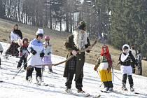 Z akce Rampušák v Sedloňově konané v Orlických horách.