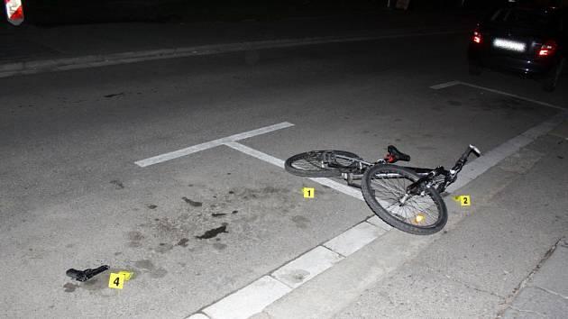 Dopadení ozbrojeného zloděje jízdního kola.