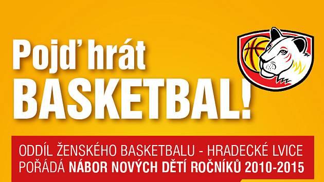 NÁBOR. Hradecké lvice hledají nové basketbalistky.