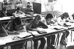Základní škola na Slezském Předměstí Sever byla otevřena ve školním roce 1975-76. Zahájením výuky bylo odstraněno směnné vyučování na ZŠ SNP, Jih, Pospíšilova třída a Šimkova ulice. Na školu v prvním roce nastoupilo 316 dětí a vyučovalo zde 14 učitelů.