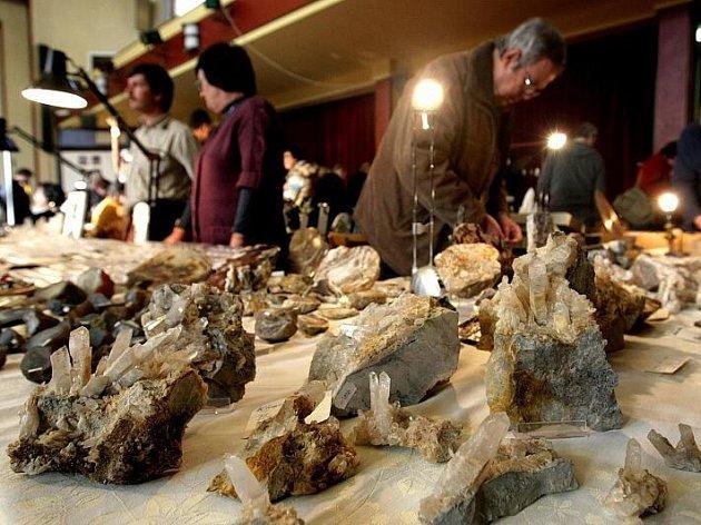 Výstava minerálů, fosílií a drahých kamenů 14. listopadu na Střelnici v Hradci Králové.