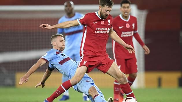 Liverpool - West Ham (ve skluzu Tomáš Souček).