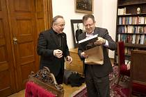 Setkání s biskupem Janem Vokálem.