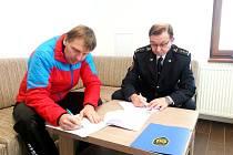 Společná dohoda o plánované pomoci na vyžádání mezi HZS Královéhradeckého kraje a Horskou službou ČR, oblastí Orlické hory.